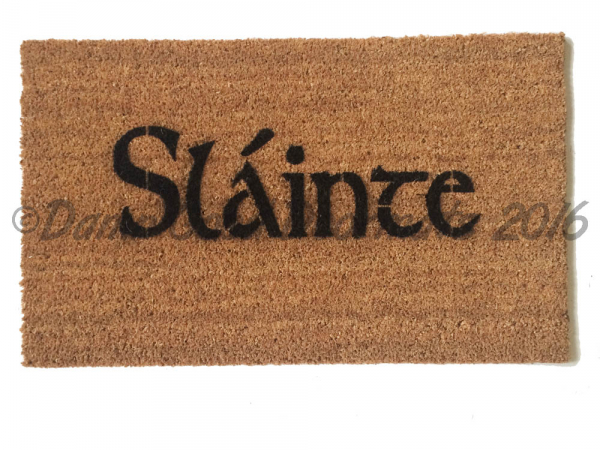 Scottish Fáilte and thistle or Irish Harp doormat St Patricks day decor