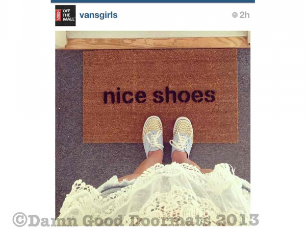 ONE LINE nice shoes doormat