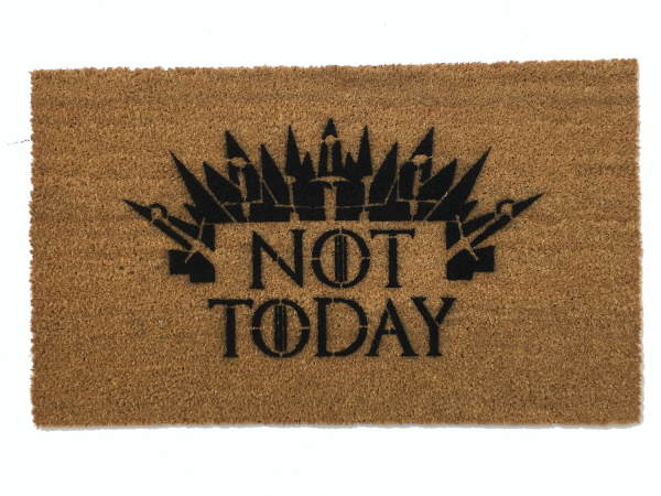 NOT TODAY SATAN Game of Thrones meets Church Lady doormat