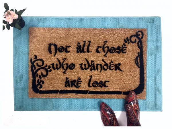 JRR Tolkien nerd doormat Not all those who wander are lost