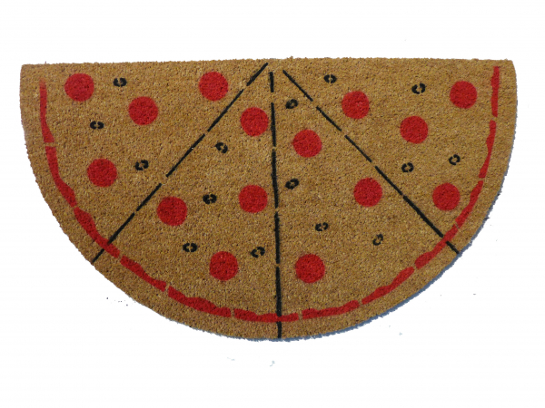oversized Ultimate PIZZA Lovers pepperoni doormat
