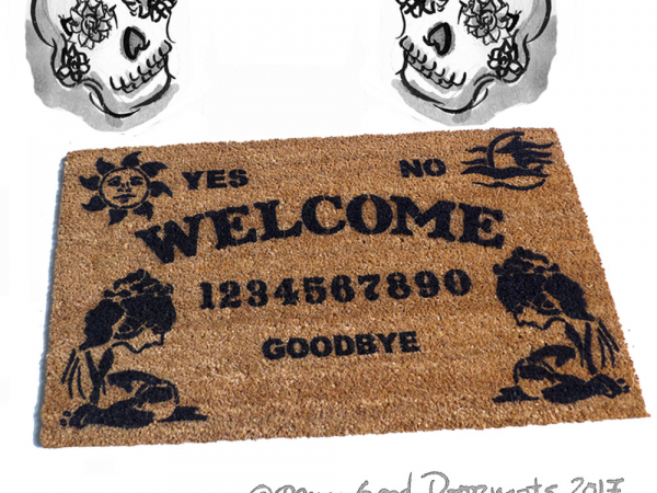 Gypsy Ouija Board Gothic home decor seance Doormat