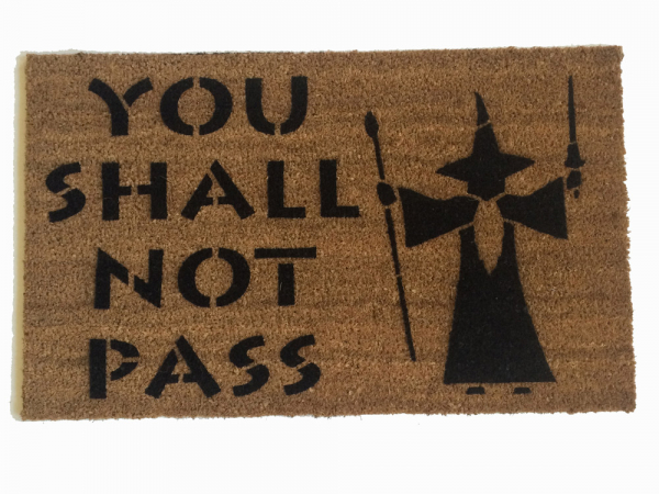Elvish Quot Speak Friend And Enter Quot Door Mat With 2 Tone Star