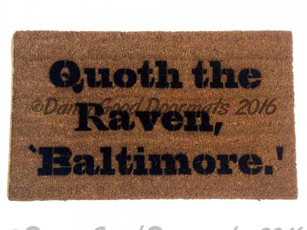 Superbowl  Baltimore Ravens Poe quote doormat