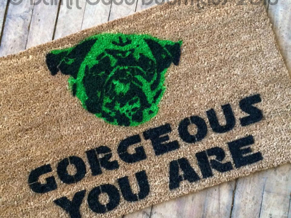 Star Wars Go Away You Should Yoda Funny Rude Doormat