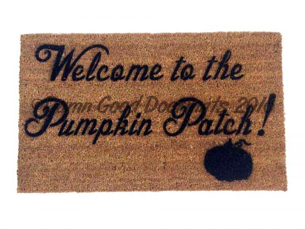 Pumpkin Patch doormat, fall porch decor