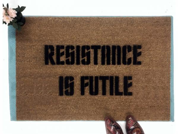 Star Trek Borg Resistance is futile nerd doormat