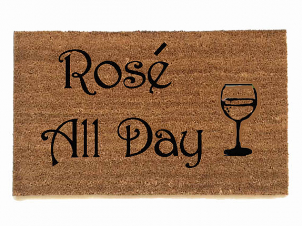 Rose all day wine lovers doormat