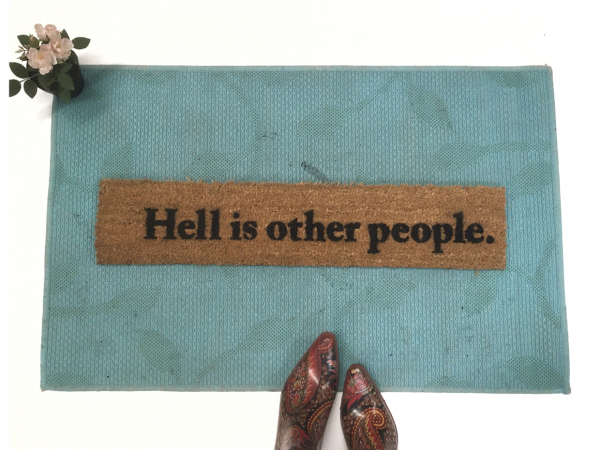 Sartre Hell is other people social distancing quote literary english teacher gif