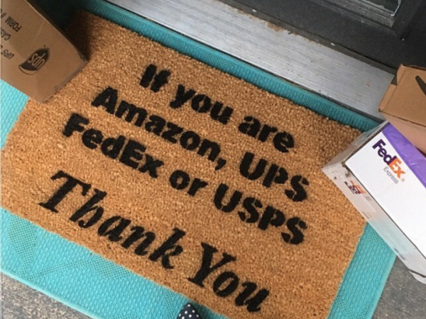 If you are Amazon, FedEx UPS USPS, thank you! Delivery drivers welcome doormat