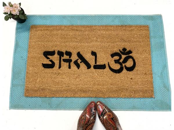 Shalom Om™ Jewish mindful doormat