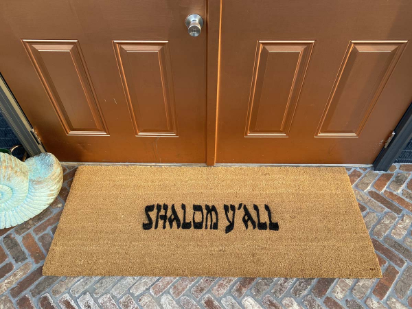 doublewide XL shalom y'all jewish novelty welcome doormat