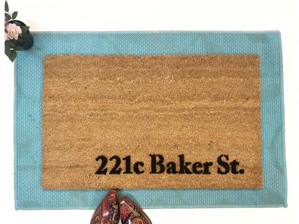 Sherlock Holmes street address 221c Baker St literature lover gift nerd hou