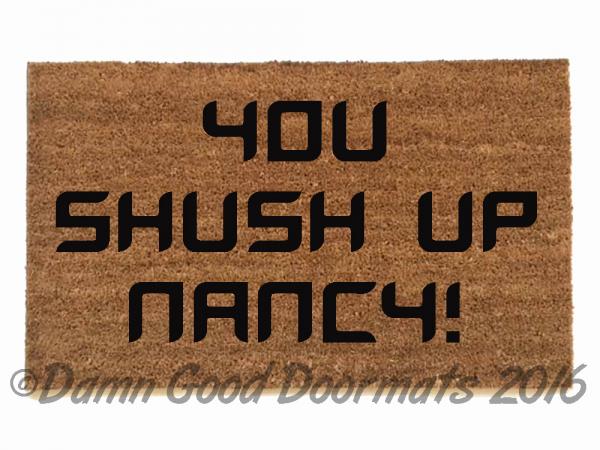 stepbrothers,funny geek welcome rude go away outdoor coir doormat damn good welc