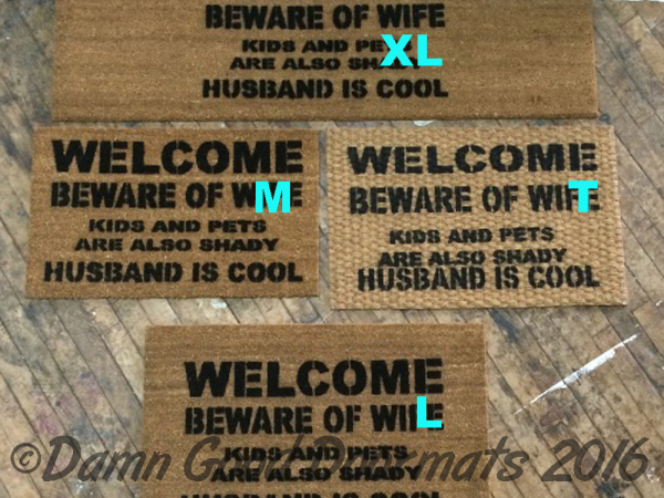 beware-of-wife-dog shady husband cool rude funny censored doormat