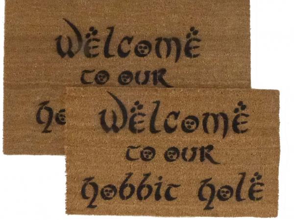 Welcome to OUR Hobbit Hole JRR Tolkien nerd doormat