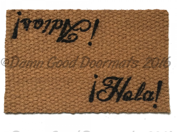 Spanish Hola Adios Hello/Goodbye doormat