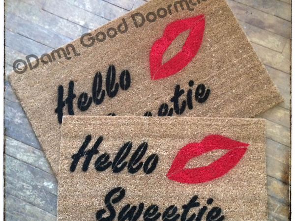 Dr. Who River's Song Hello sweetie nerdy  doormat