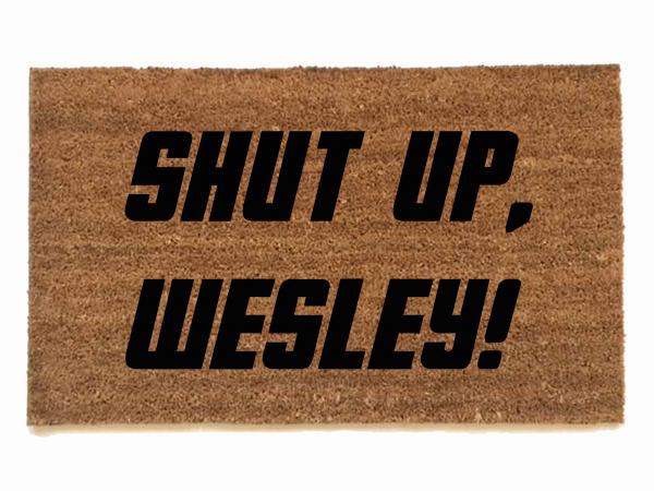 Shut up Wesley!  Star Trek doormat