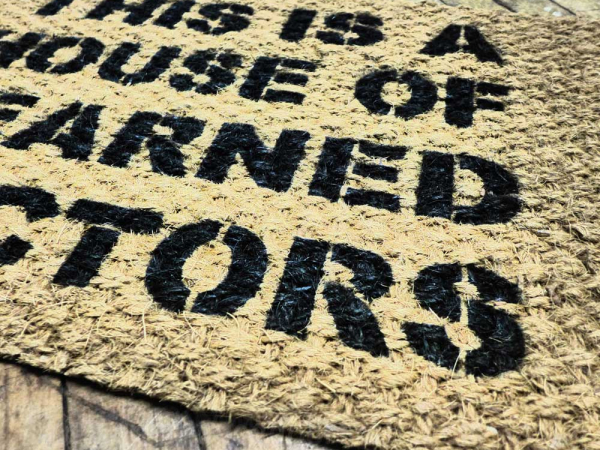 House of Learned Doctors door mat doormat