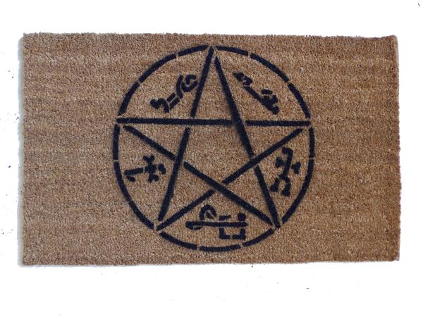 Devil's Trap Supernatural Pentagram doormat