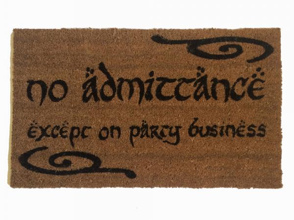 LOTR Tolkien  -Speak, Friend, and Enter- doormat