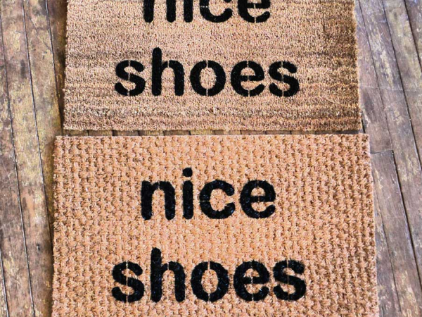 nice shoes.  doormat
