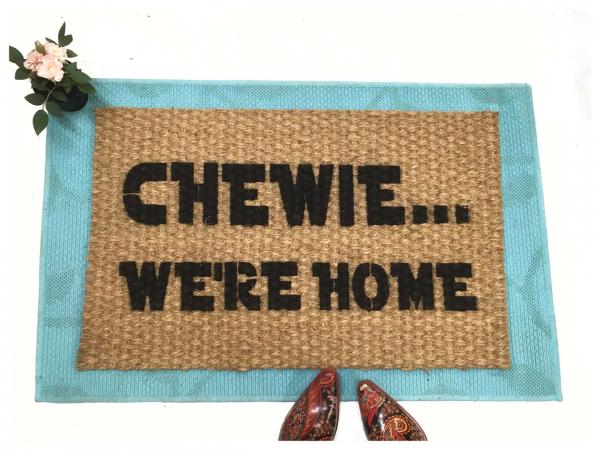 Star Wars Chewie, we're home, Han Solo Chewbacca doormat