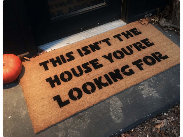 This isn't the house you're looking for, droids geek meme