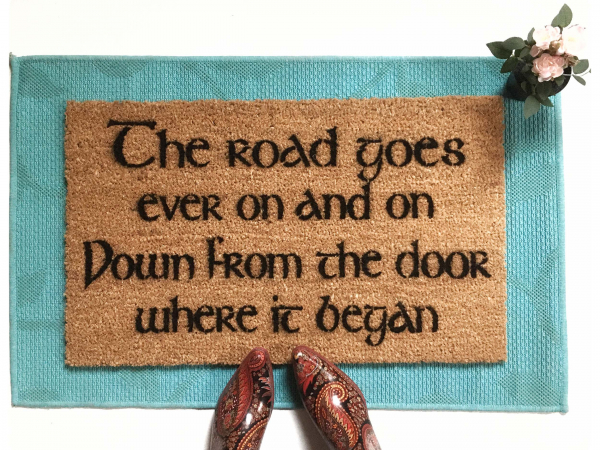 JRR Tolkien The ROAD goes ever on  nerd doormat