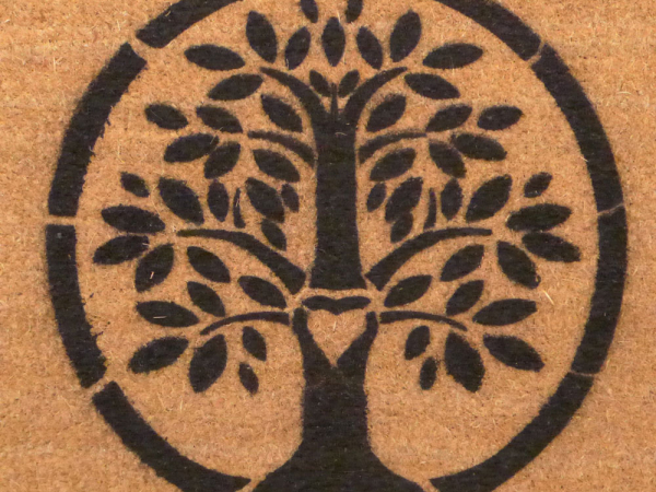 eco-friendly Tree of Life Hippie Love doormat
