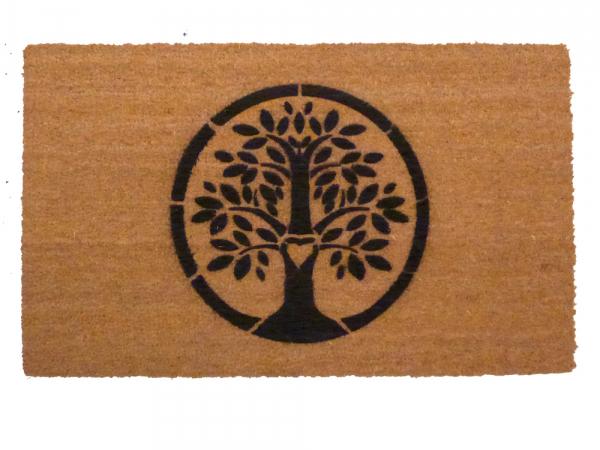 eco-friendly Tree of Life Hippie Love doormat