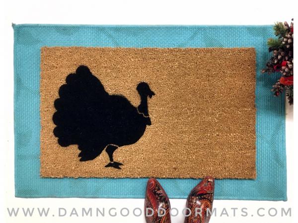 Thanksgiving Turkey holiday doormat