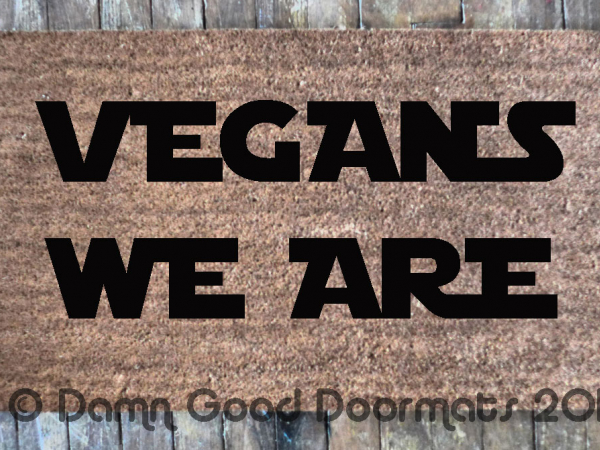 VEGANS we are star wars yoda geek doormat