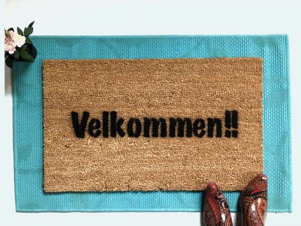 Norway Norwegian doormat Velkommen Come In