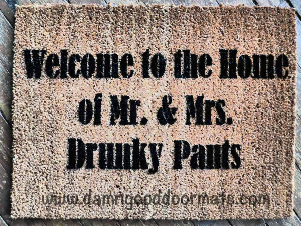 Welcome to the home of Mr. & Mrs. Fancyy Pants doormat