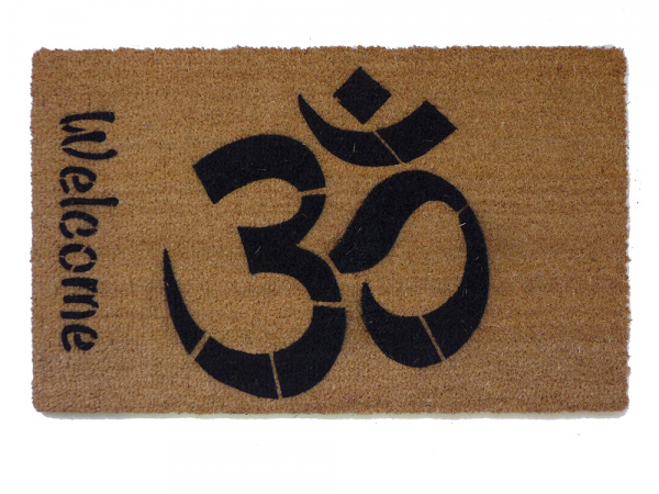 Welcome OM doormat hindu housewarming damn good doormat