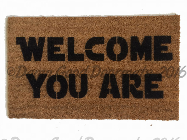 Star Wars Yoda doormat geek funny rude
