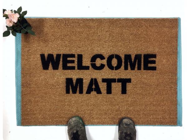 Welcome Matt funny welcome mat doormat