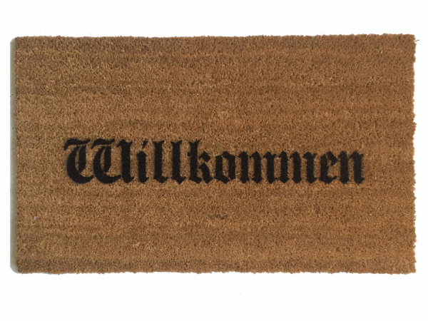NEW olde english German door mat Willkommen doormat