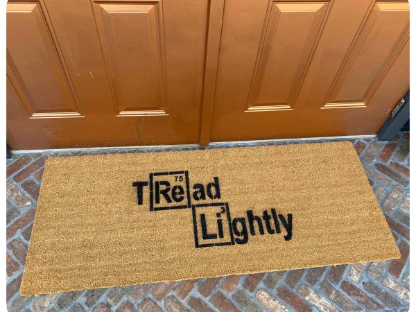 Doublewide XL Periodic Table Tread Lightly doormat Breaking Bad