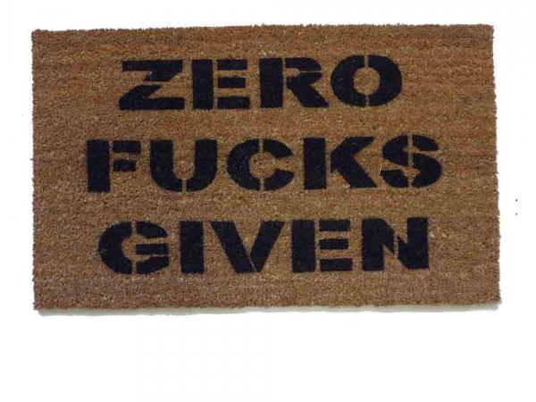 Zero fucks given doormat funny rude
