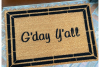 Gday y'all funny southern boho style Australian doormat