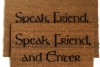 speak friend enter tolkien doormat