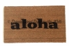 aloha tiki hawaiian welcome goodbye doormat welcome