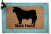 Custom Angus Bull Farmhouse Country  Ranch doormat
