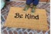 Be kind happy home mantra doormat