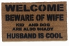 funny meme beware of wife dad joke doormat