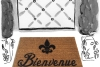 Bienvenue Fluer de lis French doormat