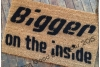 Bigger on the inside WORDS ONLY doormat